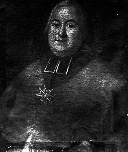 Portrait de chanoine, prince de Salm, peinture sur toile