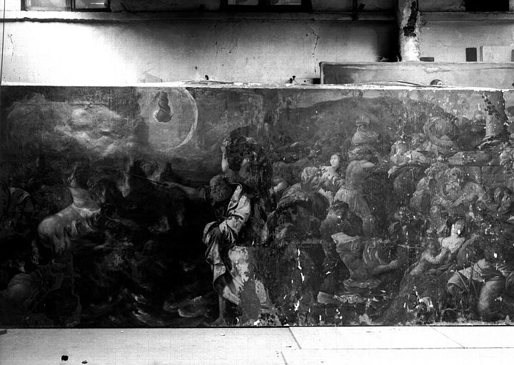 Passage de la mer Rouge, peinture sur toile
