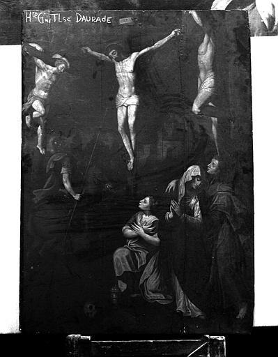Panneau peint : Crucifixion