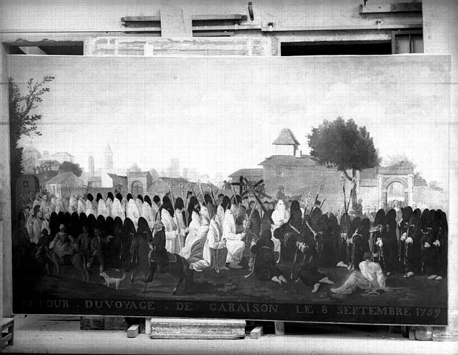 Retour du pélerinage de Garaison, peinture sur toile