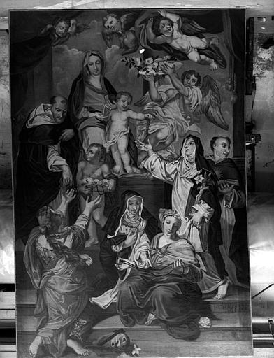 Vierge du Rosaire, peinture sur toile