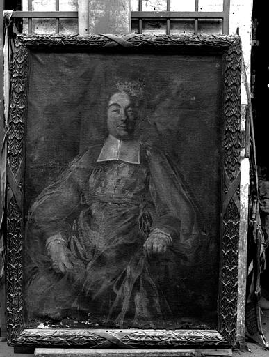 Portrait d'évêque, peinture sur toile