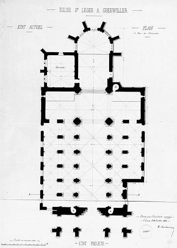 Modification du porche : Plan (état projeté)