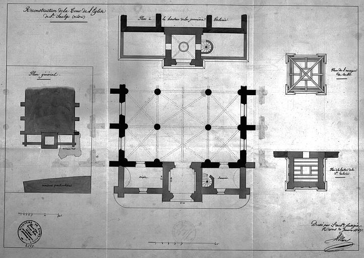 Reconstruction de la tour : Plans