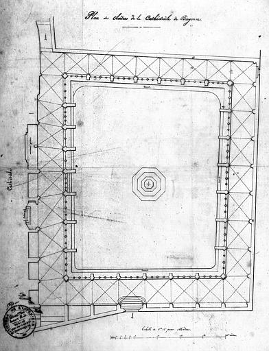Plan du cloître