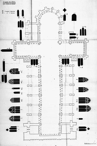 Plan général indiquant l'emplacement des verrières