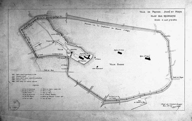 Plan général des remparts de la ville haute et de la ville basse