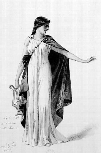 Maquette pour le costume de Sapho dans 'Sapho' de Charles Gounod