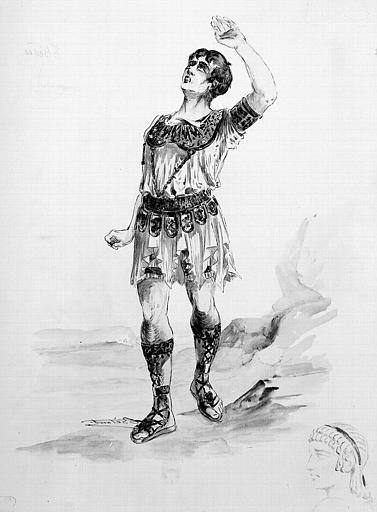 Maquette pour le costume de Thésée dans 'Ariane' de Jules Massenet