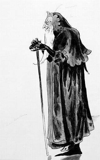 Maquette pour le costume du Diable dans 'Crisélidis' de Jules Massenet
