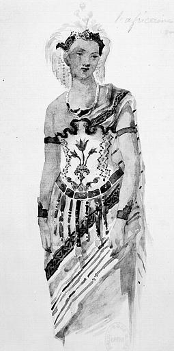 Maquette pour le costume de Sélika dans 'L'Africaine' de G. Meyerbeer