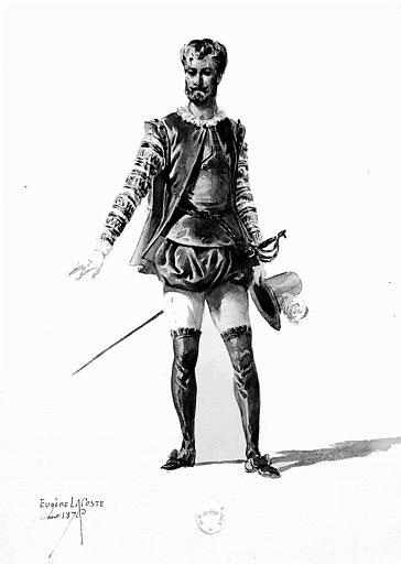Maquette pour le costume de Don Giovanni dans 'Don Giovanni' de W.-A. Mozart