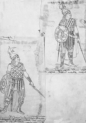 Maquette pour le costume de Sigurd dans 'Sigurd' de E. Reyer