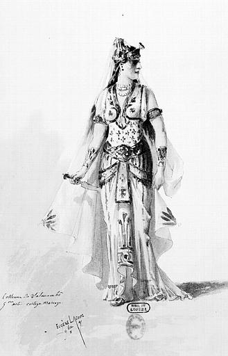 Maquette pour le costume de Salammbô dans 'Salammbô' de E. Reyer