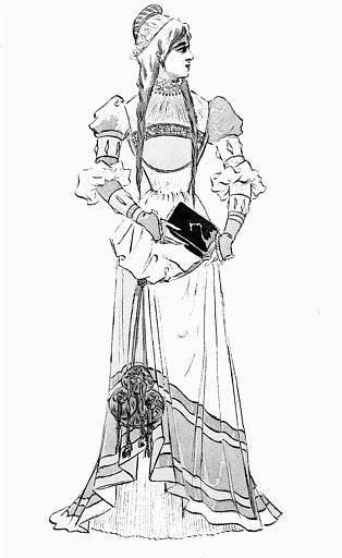 Maquette pour le costume d'Eva dans 'Les Maîtres chanteurs de Nuremberg' de Richard Wagner