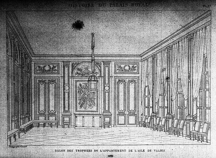 Salon des trophées de l'appartement de l'aile de Valois