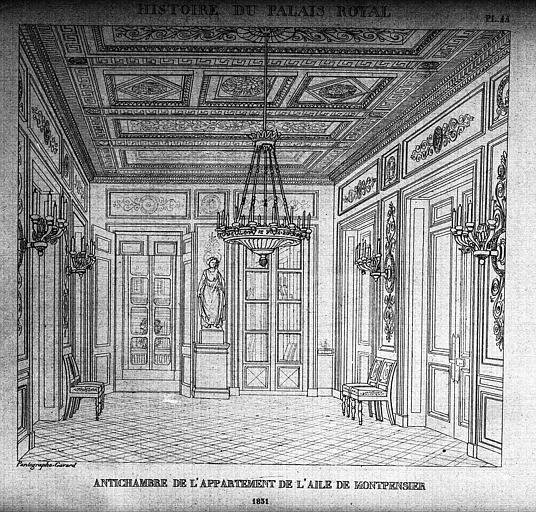 Antichambre de l'appartement de l'aile Montpensier