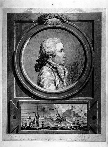 Dessin : Portrait de J. Jeffries