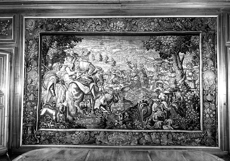 Chasse, tapisserie en laine et soie