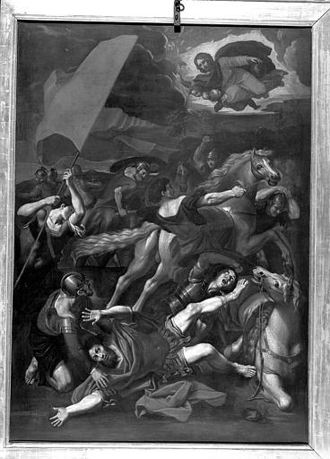 Saint Paul sur le chemin de Damas, peinture sur toile de la chapelle de la Vierge