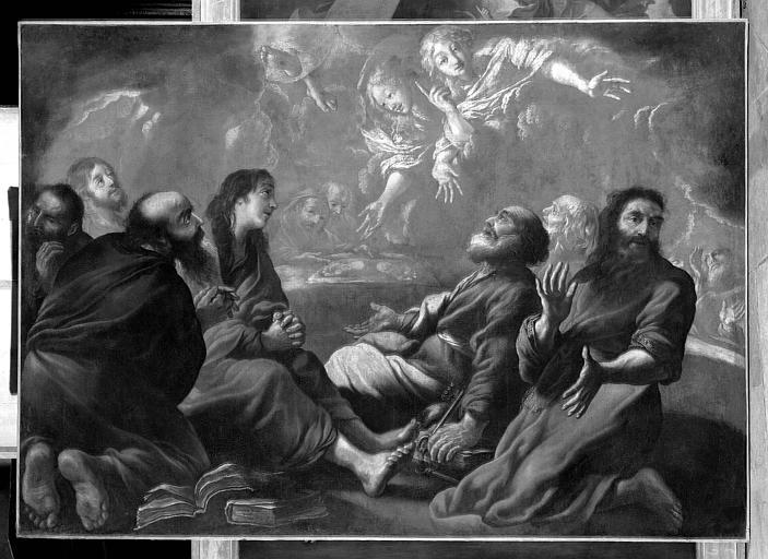 L'Ascension, peinture sur toile de la chapelle de la Vierge