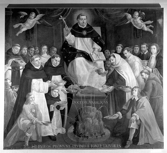 Saint François d'Aquin 'Fontaine de la Sagesse', tableau