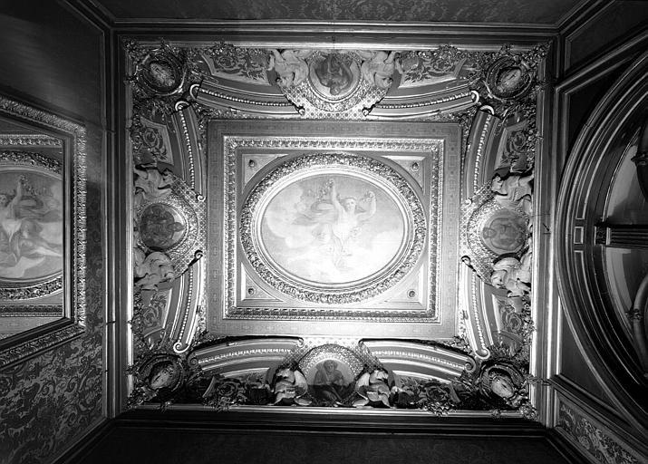 Salon des griffons, plafond : Le Génie traversant l'air