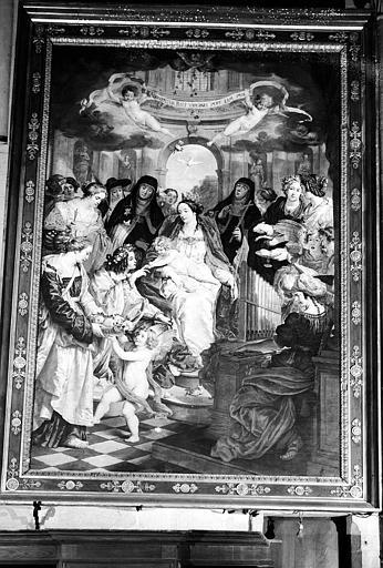 Mariage mystique de sainte Catherine, peinture sur toile
