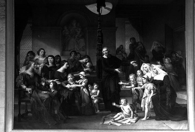 Saint Vincent de Paul prêchant la charité, peinture sur toile. Salon de 1824