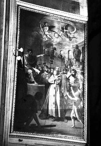 Saint Polycape conduit au bûcher, peinture sur toile