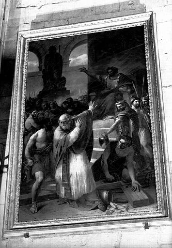 Sainte Irénée choisissant le supplice de la croix, peinture sur toile