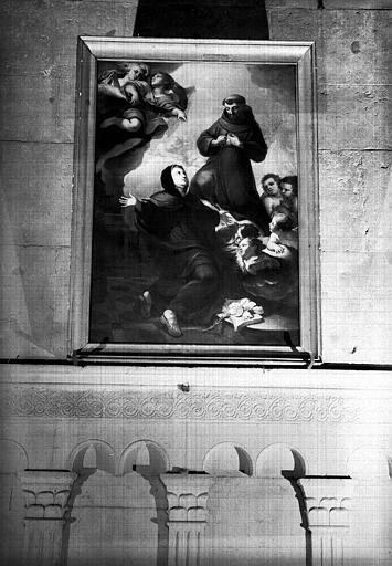 Saint François d'Assise et sainte Claire, peinture sur toile