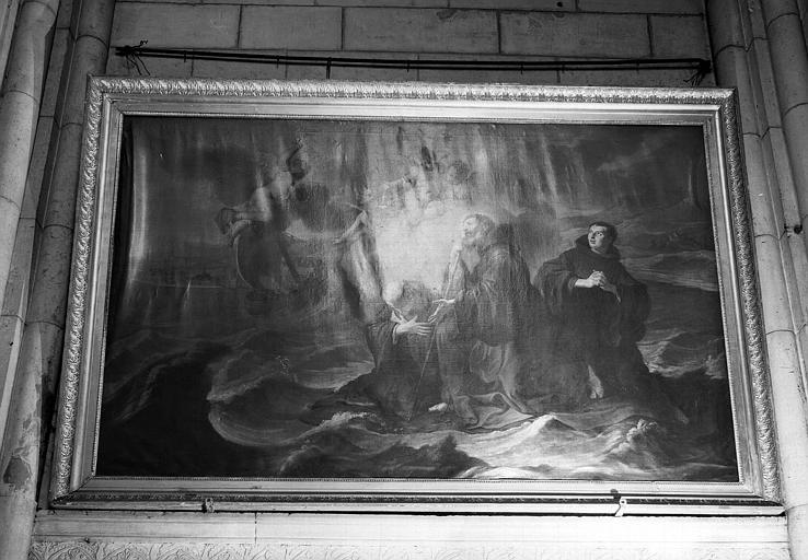 Saint François de Paule marchant sur les eaux, peinture sur toile