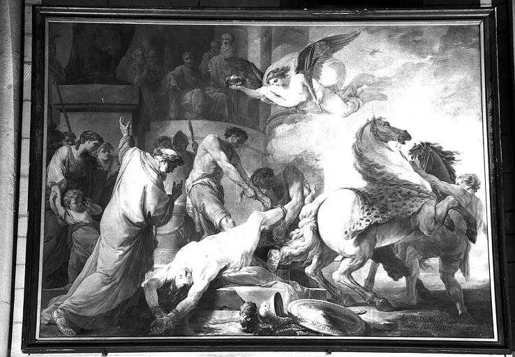Martyre de saint Hippolyte, peinture sur toile