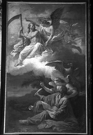 Saint Jean à Pathmos, peinture sur toile