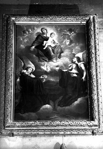 Saint Benoît et sainte Claire, peinture sur toile