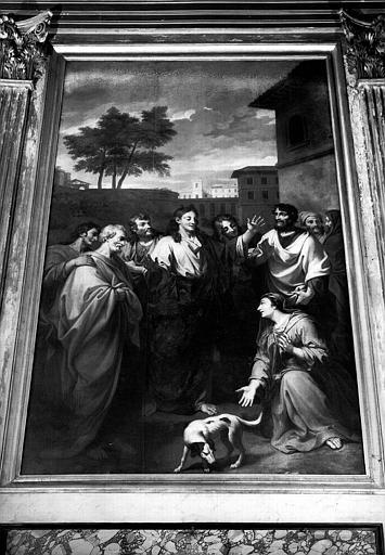 Le Christ et la cananéenne, peinture sur toile