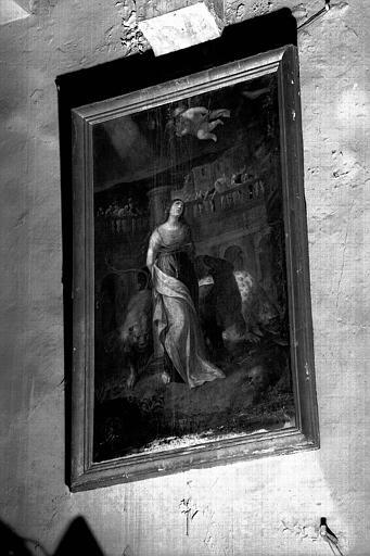 Martyre de sainte Blandine, peinture sur toile