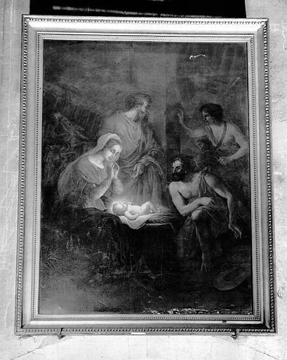 Adoration des bergers, peinture sur toile