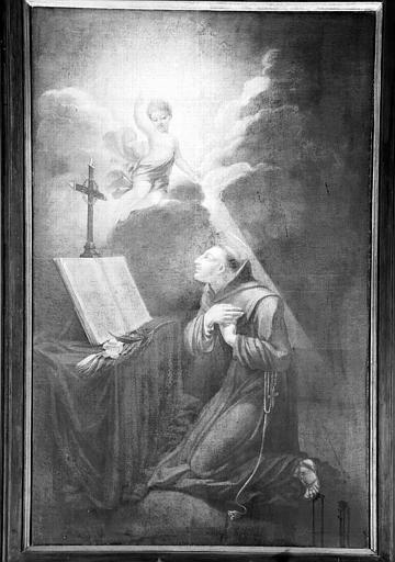 Apparition de l'Enfant Jésus à saint Antoine de Padoue, peinture sur toile