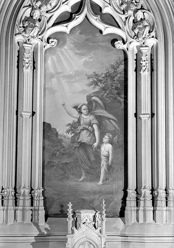 Un ange gardien, peinture sur toile