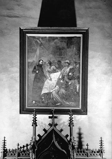 Saint François-Xavier à qui on montre une carte de la Chine, peinture sur toile