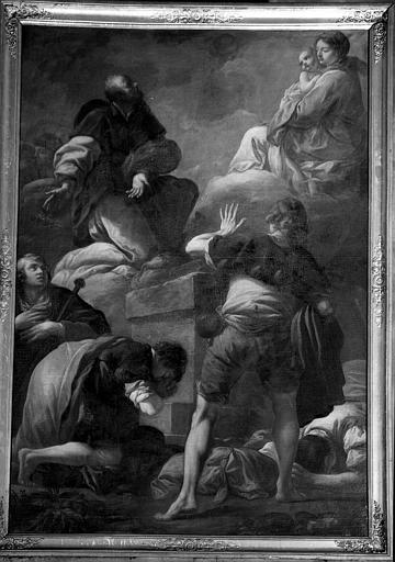 Apparition de la Vierge, peinture sur toile