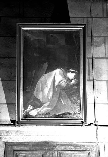 Sainte prosternée, peinture sur toile