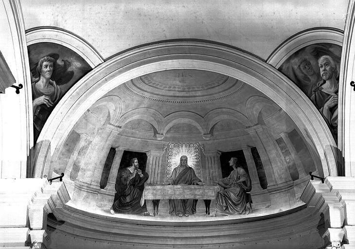 Pélerins d'Emmaüs, évangélistes des pendentifs, peinture sur toile