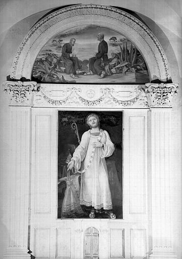 Saint Just se dépouillant des injures de l'épiscopat, retable