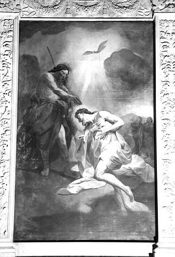 Retable : Baptême du Christ, partie centrale