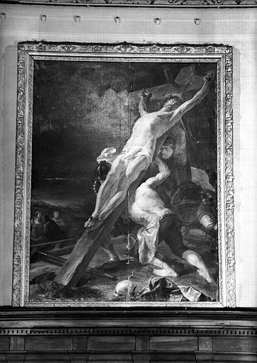 Erection de la Croix, peinture sur toile