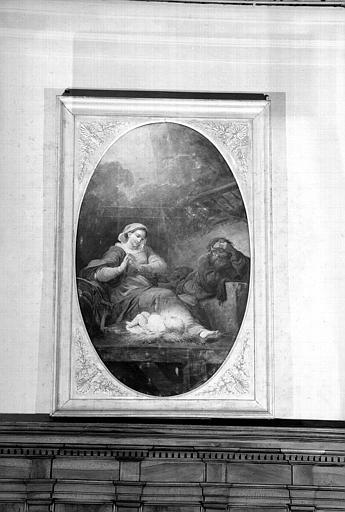 Nativité, peinture sur toile