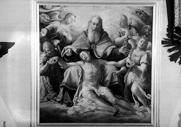 Sainte Trinité et des anges, peinture sur toile